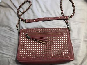 Brand new burgundy crossbody purse