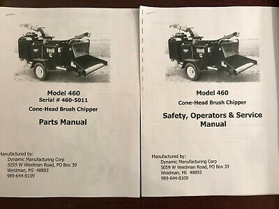 Dynamic Model 460 Cone-head Brush Chipper Parts Service User Owners Manuals