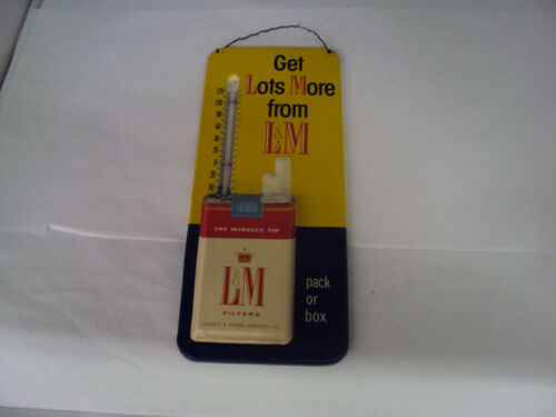"""VINTAGE ADVERTISING L&M CIGARETTE 12"""" THERMOMETER S-481"""