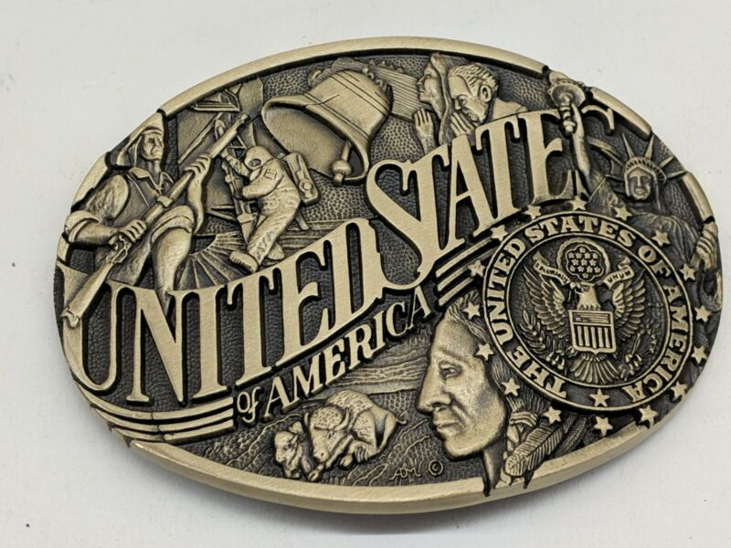 United States Of America Belt Buckle Solid Brass