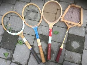 Vintage and current sport rackets