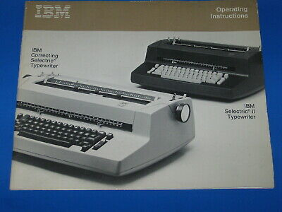 Ibm Selectric Ii Correcting Typewriter Operating Instructions Manual