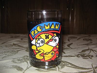 Vintage 1980 Bally Midway Pac-Man Cup Arbys Collector Series Tumbler Glass Retro