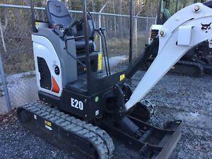 Bobcat E20 excavator