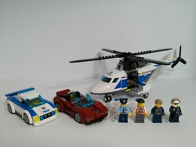 Lego City High Speed Chase 60138 100% complete with 4 minifigs