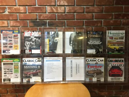 12 Pocket Magazine DISPLAY RACK Literature ACRYLIC Wall Mount NEW