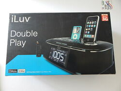iLuv Digital Dual Alarm Clock With Remote Plus Bluetooth Adapter Black