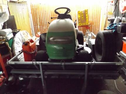 ride on mower and trailer