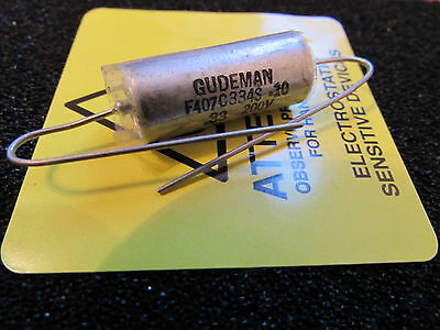 Gudeman .33uf 200v 10 F407c334s-10 Pio Axial Capacitor Made In The Usa 1pc