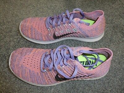 NIKE Flyknit Run Purple Black Running Shoes Size UK 5.5 , used for sale  Shipping to Nigeria