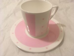 Authentic Givenchy Porcelain Pink Tea Cup and Coaster NEW