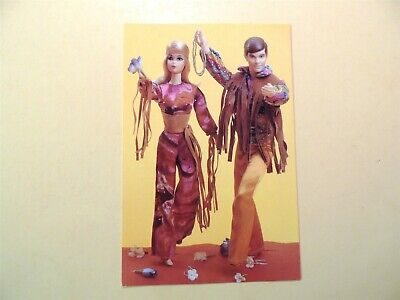 Live Action Barbie & Ken dolls 1971 vintage postcard Nostalgic Barbie series