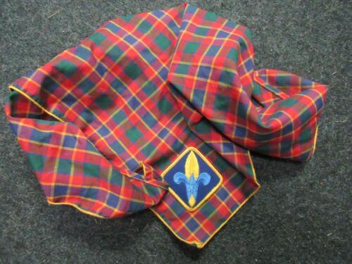 BSA Webelos Neckerchief Plaid Scarf Uniform Boy Scouts America Cub Scouts