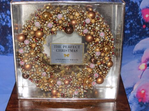 The White Barn Candle Co The Perfect Christmas Centerpiece Wreath Silver & Gold