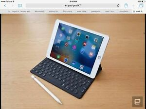 Looking for iPad Pro 9.7 WiFi + Cellular, Pencil + Keyboard East Perth Perth City Area Preview