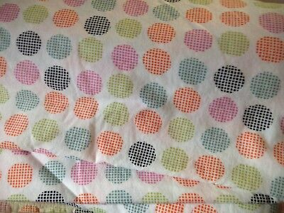 Student Lounge Twin Bed Sheet Set Multi Color Polka Dots Very Rare Cool Retired ()