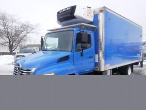 2010 Hino 258 20 Foot Cube Van Reefer Diesel Power Tailgate
