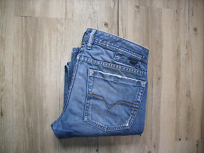 VINTAGE DIESEL ZATHAN (0089Z) Flare Bootcut Jeans W31 L32 DIRTY+ DISTRESSED WASH