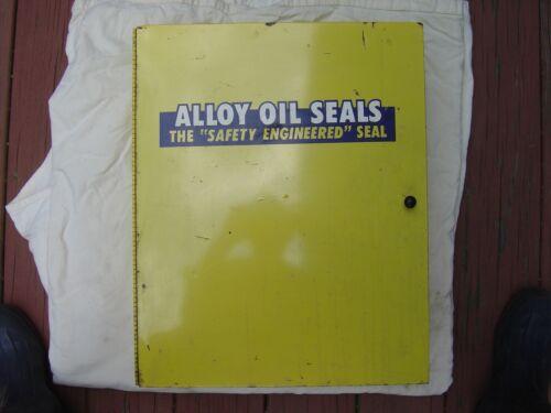 Vintage Original Alloy Oil Seals Metal Cabinet