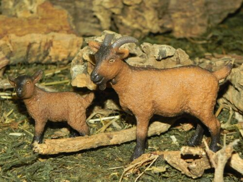 "Schleich Goat Set of 2 Figurines for 5"" Nativity Scene Presepio Cabras Pesebre"