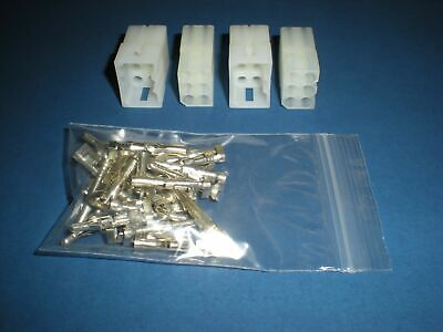 6 Pin Molex Connector Kit 2 Sets W14-20 Awg .093 Pins Free Hanging 0.093
