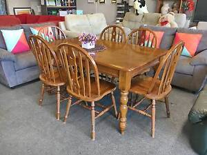 TODAY DELIVERY BEAUTIFUL STRONG 7pc SOLID WOOD dining table Belmont Belmont Area Preview