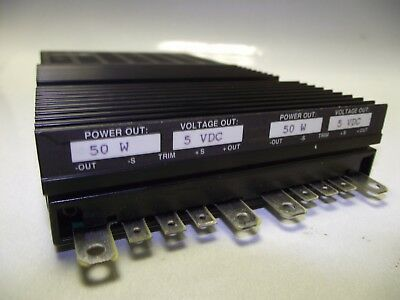 Vicor Flatpac Vi-pf00-cyy 5v 5v Double Output Dc Power Supply
