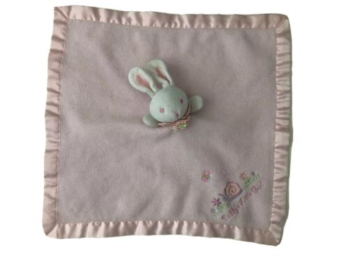 First Moments Layette Bunny Pink Security Blanket Daddy s Little Girl Rabbit - $30.00