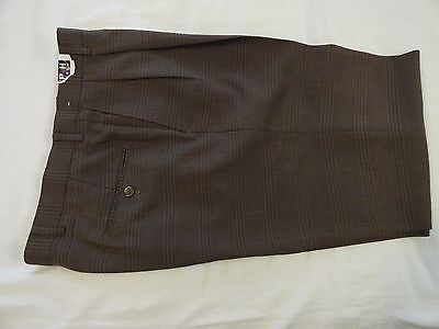 RALPH by RALPH LAUREN Men's Polyester+ Pants Brown Check (30-32 x up to 33)  NWT