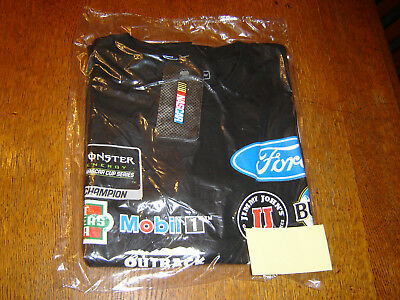Stewart Haas Team Collection Kevin Harvick Black Jimmy Johns Uniform T Shirt Xxl