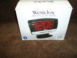 NIB...Westclox # 80187 AM/FM LED Clock Radio