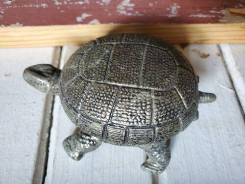 ODDITY Vintage Antique Brass Turtle Lighter Shell Unique RARE