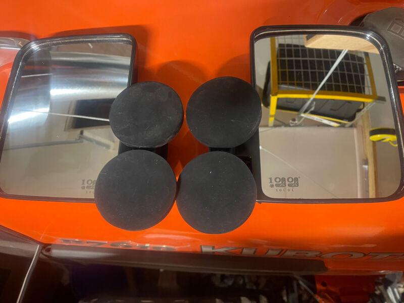 XL RUBBER COATED MAGNETIC MIRRORS TRACTOR/SKID STEERE KUBOTA JOHN DEERE PAIR