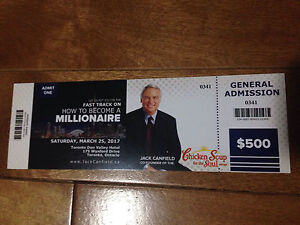 1 general ticket to Jack Canfiled - How to become a millionaire