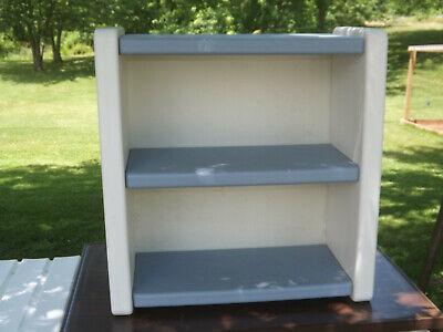 Vintage Little Tikes Blue White 2 Shelf Child Size Bookcase / Bookshelf