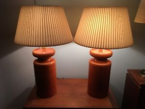 Pair of Mid century modern ceramic table lamps