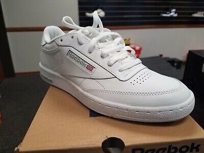 Brand New in Box Reebok  Men's Tennis Shoes CLUB CHAMPION C 85 AR0455 WHITE GREY