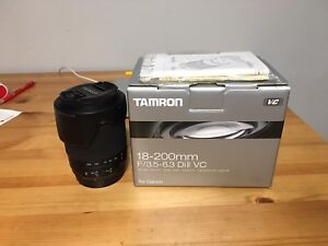 Tamron 18-200mm lens for Canon