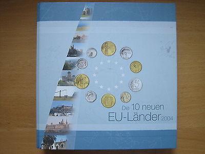 MDS MÜNZ-SAMMELALBUM FÜR DIE VOR EURO - KMS DER 10 EU-BEITRITTSLÄNDER VON 2004
