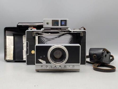 Vintage Polaroid Land Camera Model 180 w/ Tominon 114mm f4.5 Lens & Meter *READ*