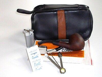 Pfeifentasche Angelo für 2 Pfeifen mit Pfeife, Reiniger- Filter- und mehr NEU!