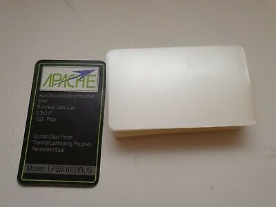 100 Business Card 5 Mil Laminating Pouches Laminator Sheets 2-14 X 3-34
