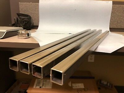 Lot Of 4 1 Stainless Square Tube X 116 Wall X 33 To 35 Long