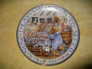 Vintage: little plates / pin dishes, Franklin Mint teddy plates Ringwood North Maroondah Area Preview