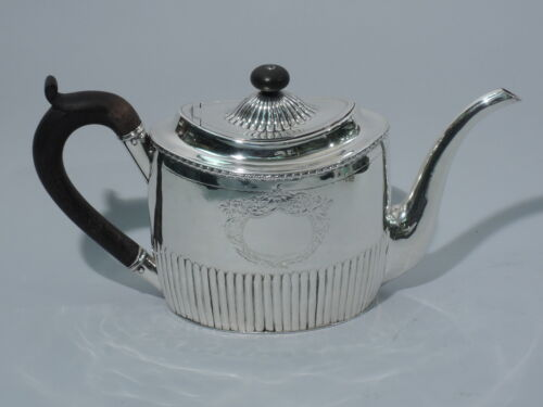 George III Teapot - Georgian Neoclassical - English Sterling Silver   Eadon 1800