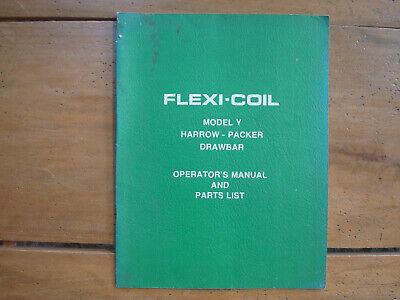 Flexi-coil Model Y Harrow-packer Drawbar Operators Manual Parts List