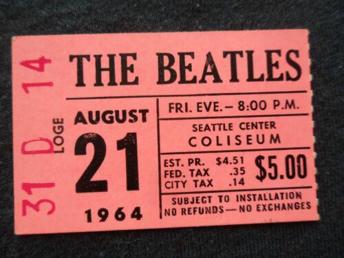 THE BEATLES Original__1964__CONCERT TICKET STUB__Seattle__EX+