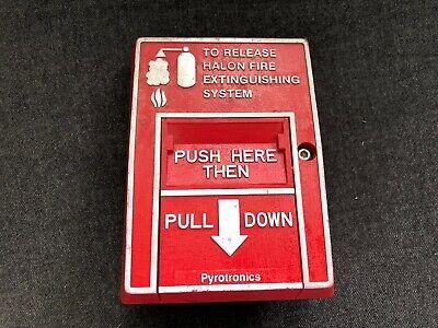 Pyrotronics Fire Alarm Pull Station Model Mh-501 Halon Extinguishing System