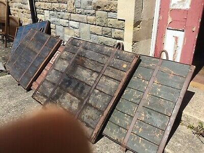 Seven Old Wrougt Iron And Wood Table Tops £100 Each.