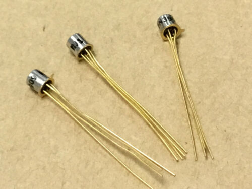 (3 PC)  NJS   2N3909   Transistor  NSN# 5961-00-484-4947  Gold Leads